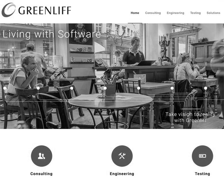 website greenliff ag mit wordpress